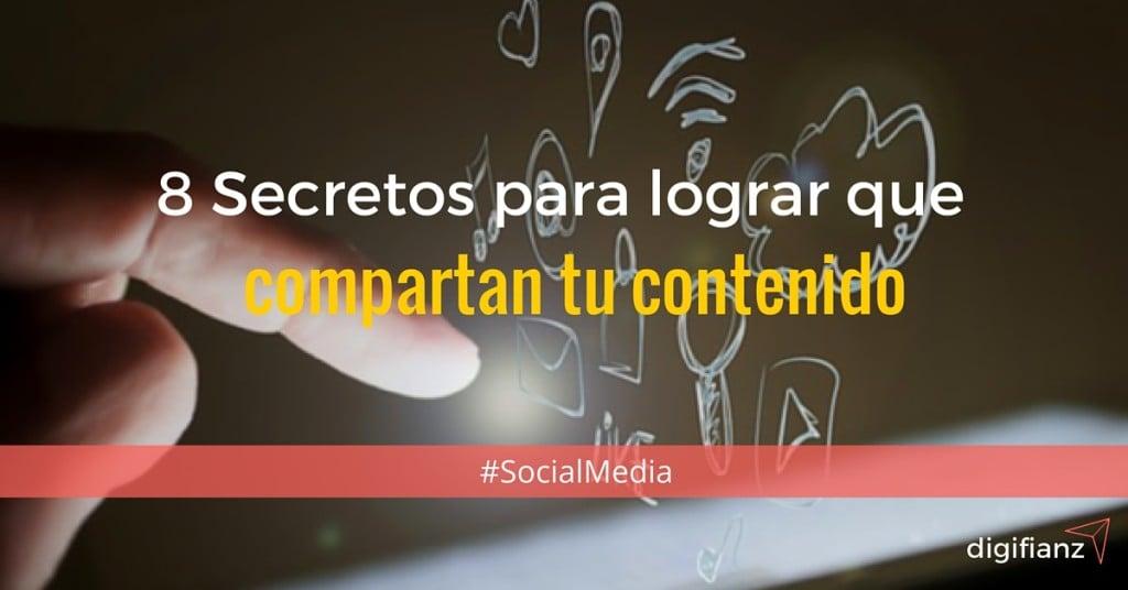 contenido en las redes sociales