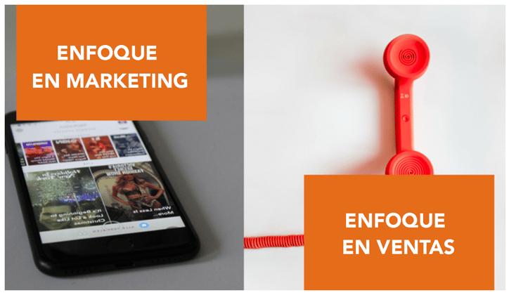Intensivo en marketing o intensivo en ventas