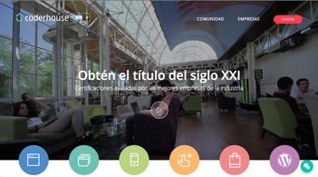 Coderhouse Website after Digifianz Inbound Screenshot