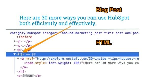 H3 nuevo códio HTML para título tamaño tres