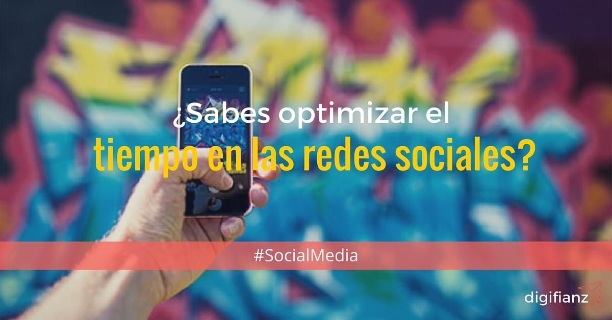 optimizar el tiempo en redes sociales