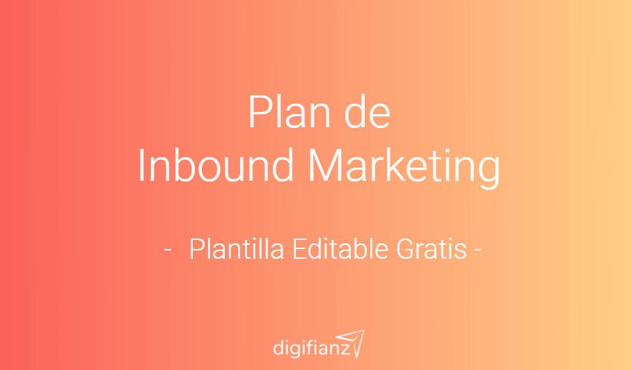 Plan de Inbound Marketing Planilla Editable